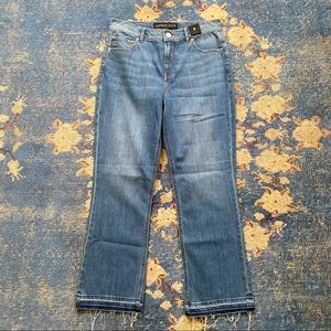 NWT Express High Rise Bell Flare Jeans 6